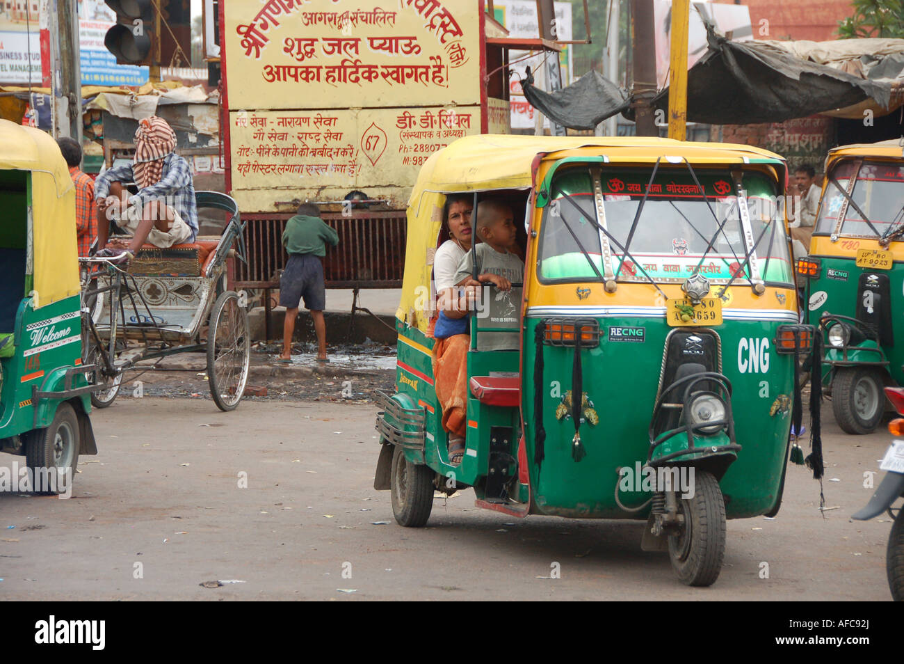 auto rickshaw tuktuk on outskirts of new delhi india stock photo royalty free image. Black Bedroom Furniture Sets. Home Design Ideas
