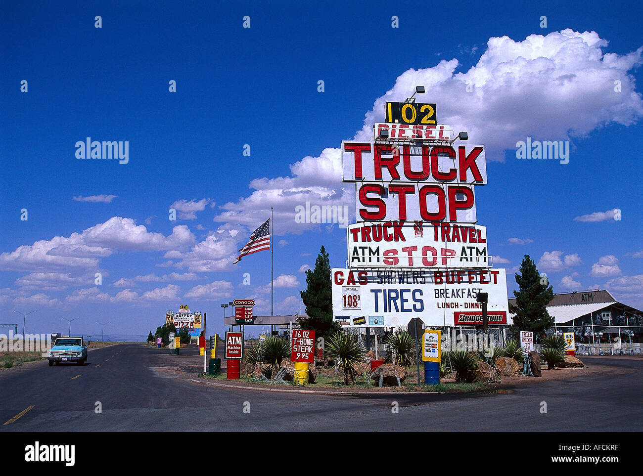 Truck Stop Van Horn Texas Usa Stock Photo Royalty Free
