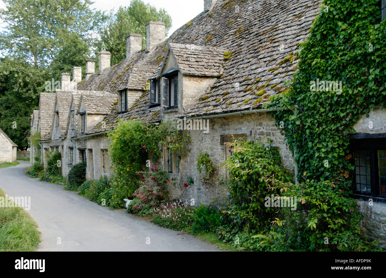 Arlington Row Bibury Cotswolds Gloucestershire England Uk