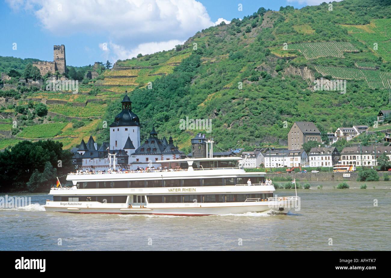 Rhine River Cruise Ship RhinelandPalatinate Germany Europe - River cruise ships europe