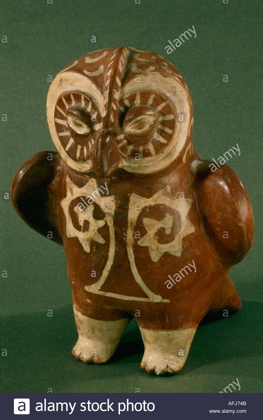 Moche Pottery Owl
