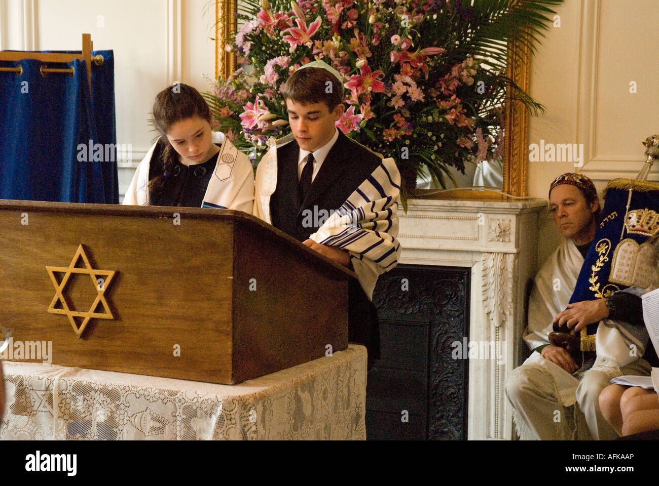 Barmitzvah Boy And Batmitzvah Girl (twins) Lead The ...