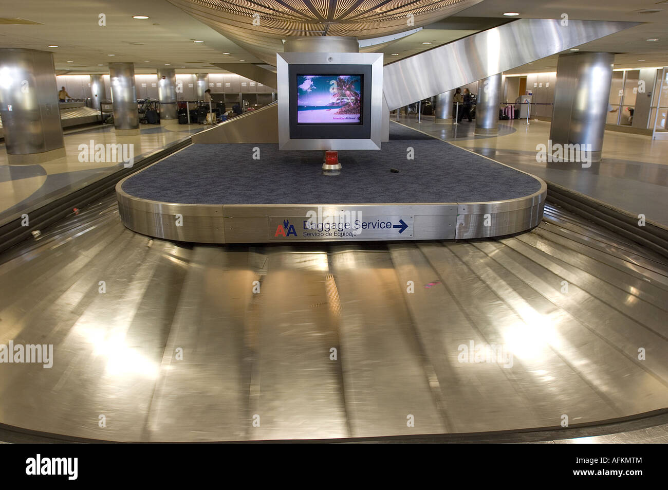 Empty Baggage Carousel At The Lax Airport In The American