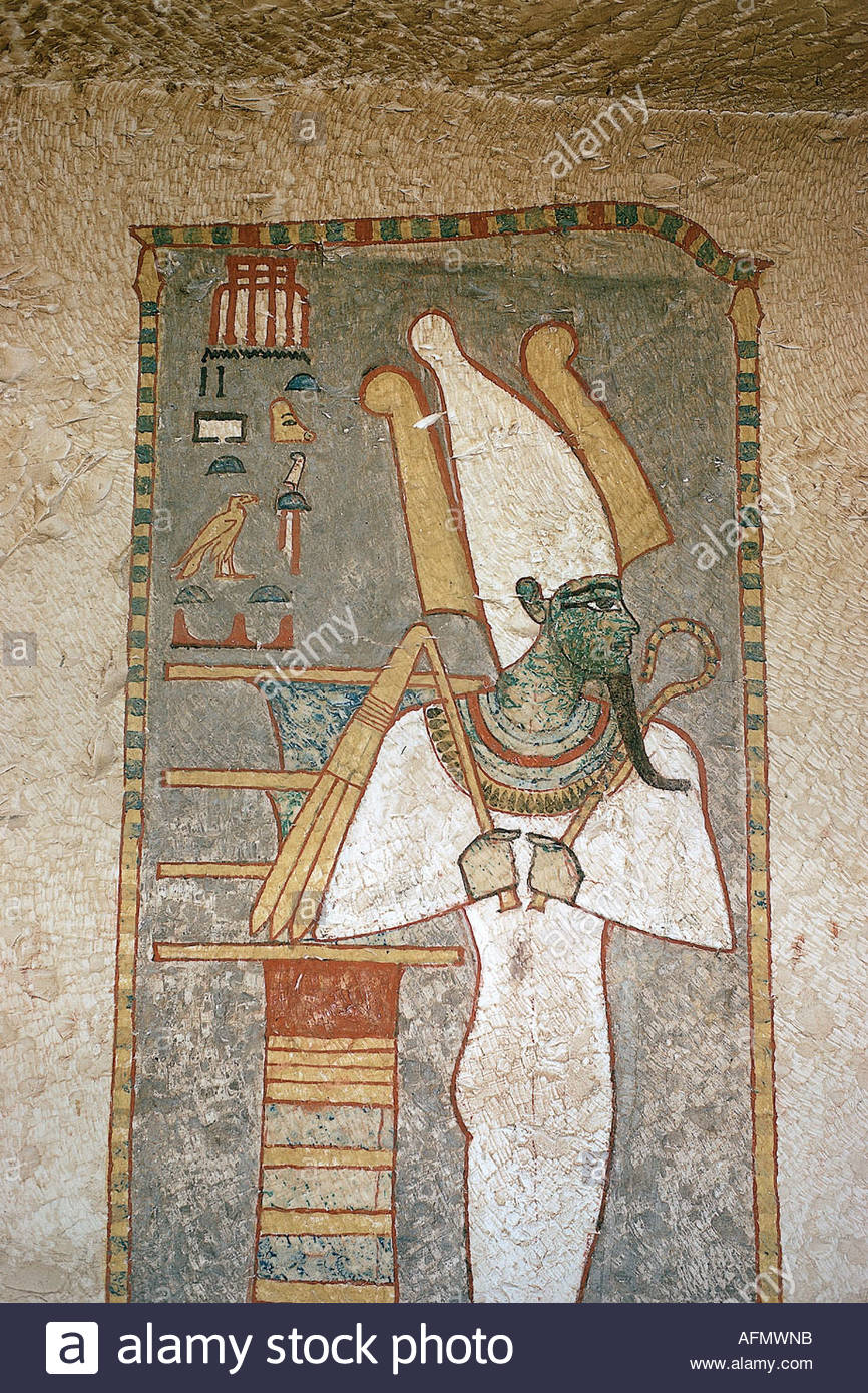 Geography travel egypt religion god osiris mural for Egypt mural painting