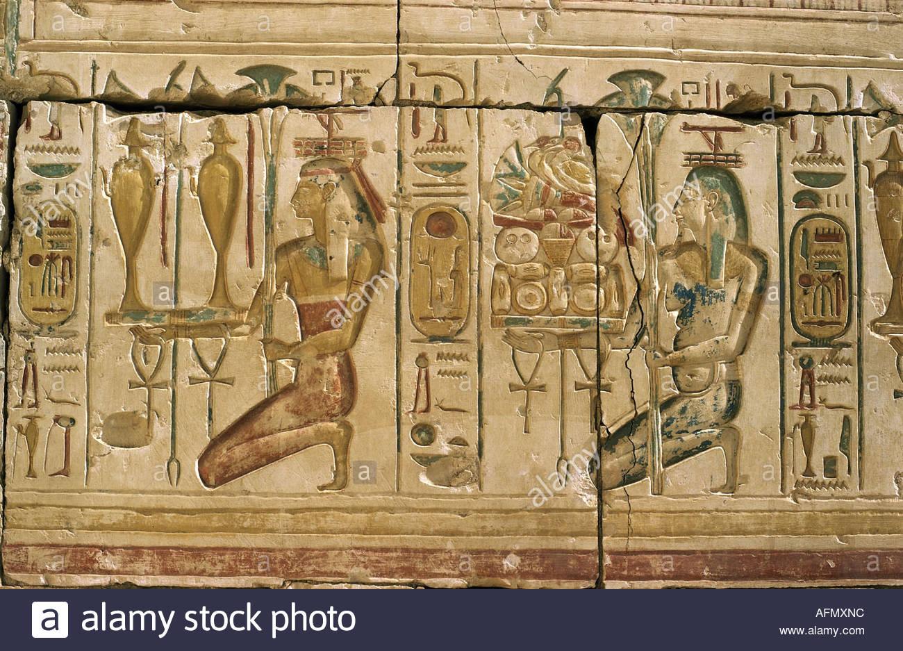 Geographytravel Egypt Religion Gods Of The Nile With Oblation - Egypt religion