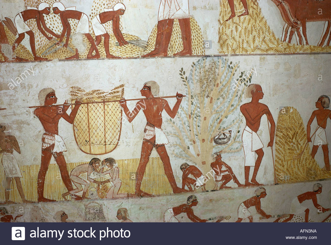 Geography travel egypt agriculture grain harvest mural for Egypt mural painting
