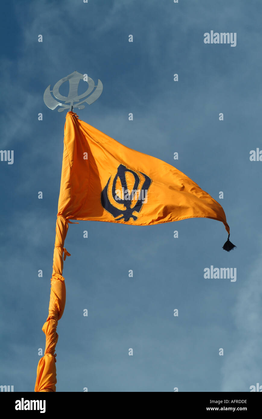 Sikh Nishan Sahib Sikh Flag Stock Photos & Sikh Nishan Sahib Sikh ...