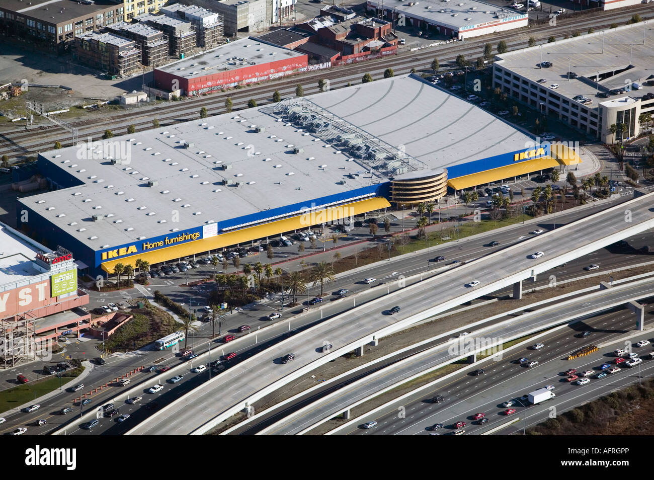 Aerial view above ikea emeryville california interstate 80 for Emplois ikea emeryville