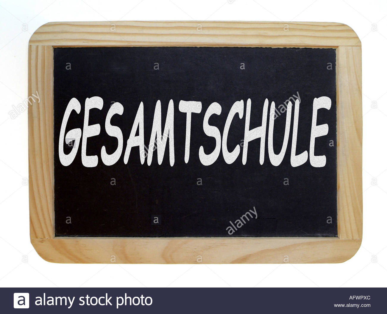 Schultafel  Schultafel Gesamtschule black board comprehensive school Stock ...