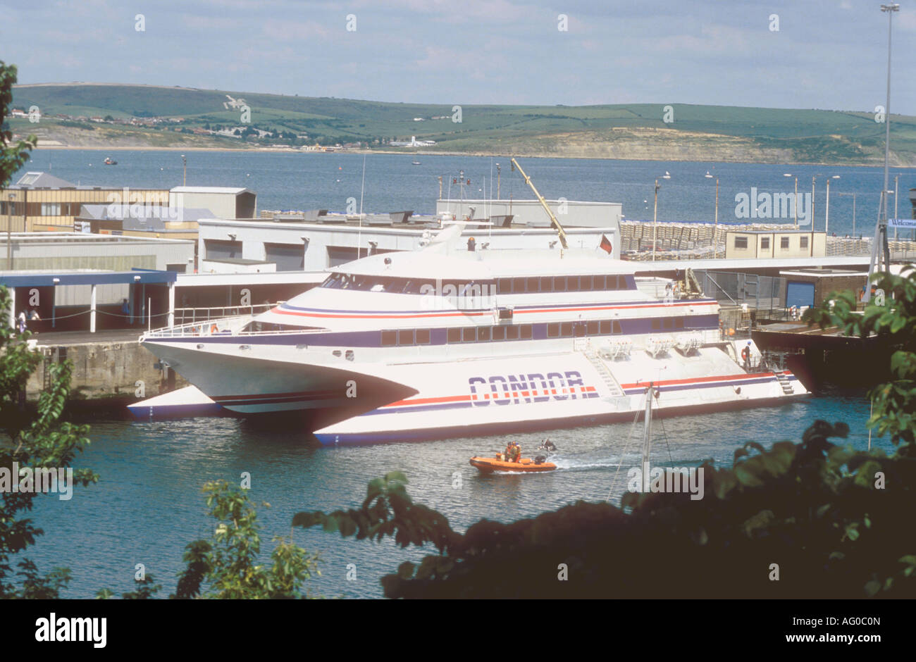 Condor 9 Wavepiercer Catamaran Passenger Boat At Weymouth