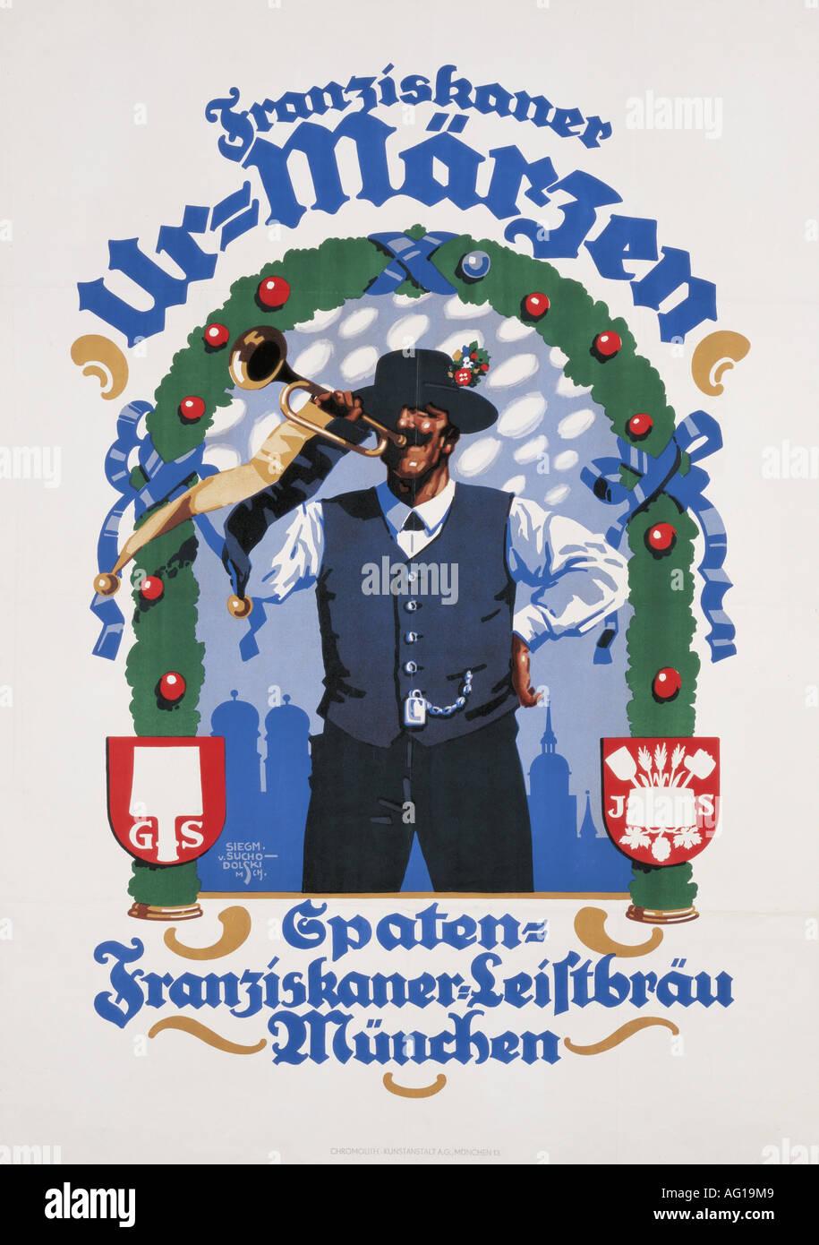 Poster design 1920s - Munich 1920s 20s Poster Design By Sigmund Von Suchodolski 1875 1935 Fine Arts Historical Stock Photos Munich 1920s 20s Poster