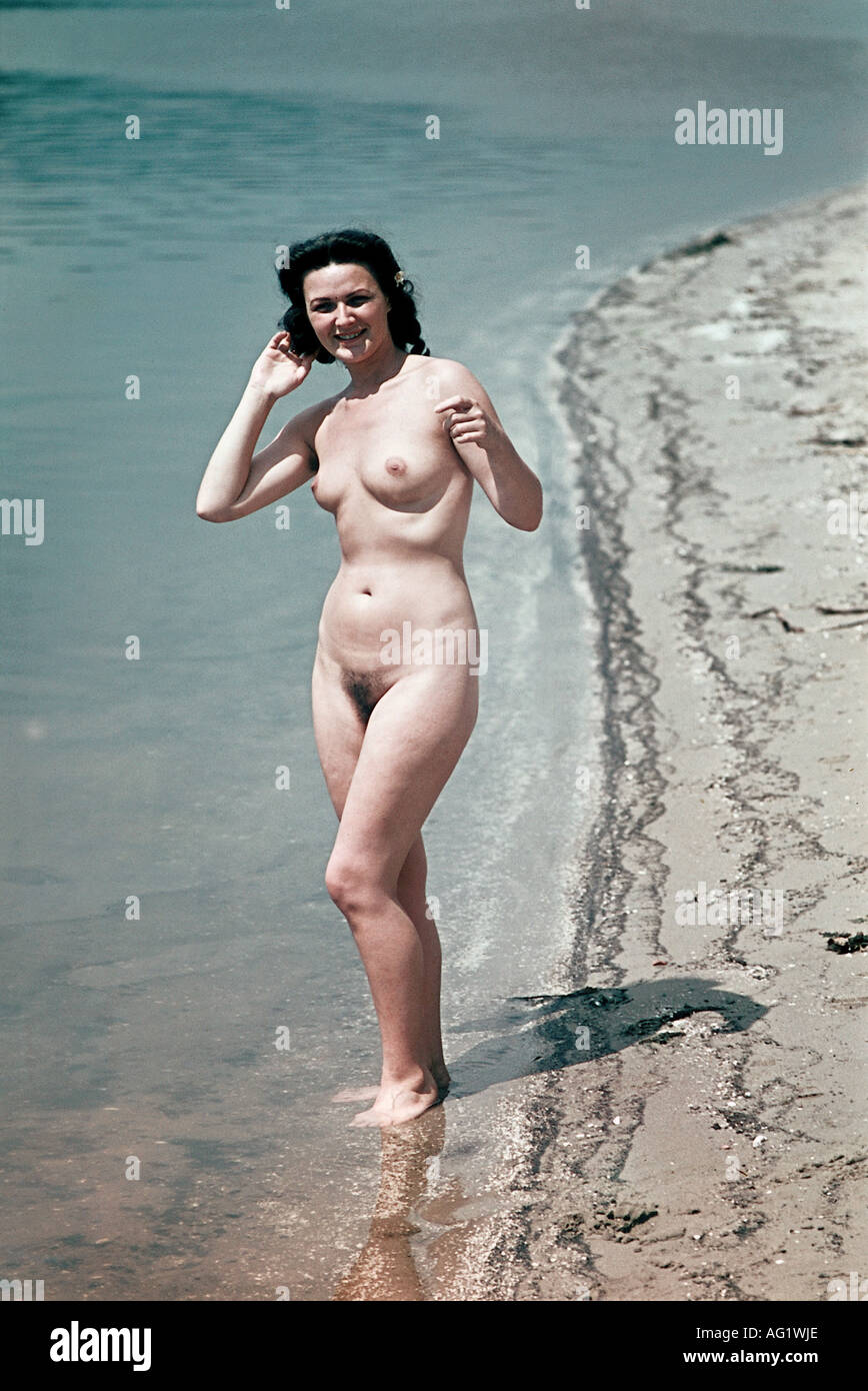 Nude girl private beach