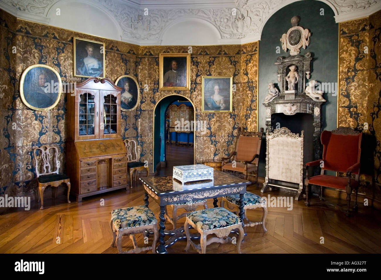 The museum of national history at frederiksborg castle copenhagen - Old Interior At The Museum Of National History At Frederiksborg Castle Stock Image