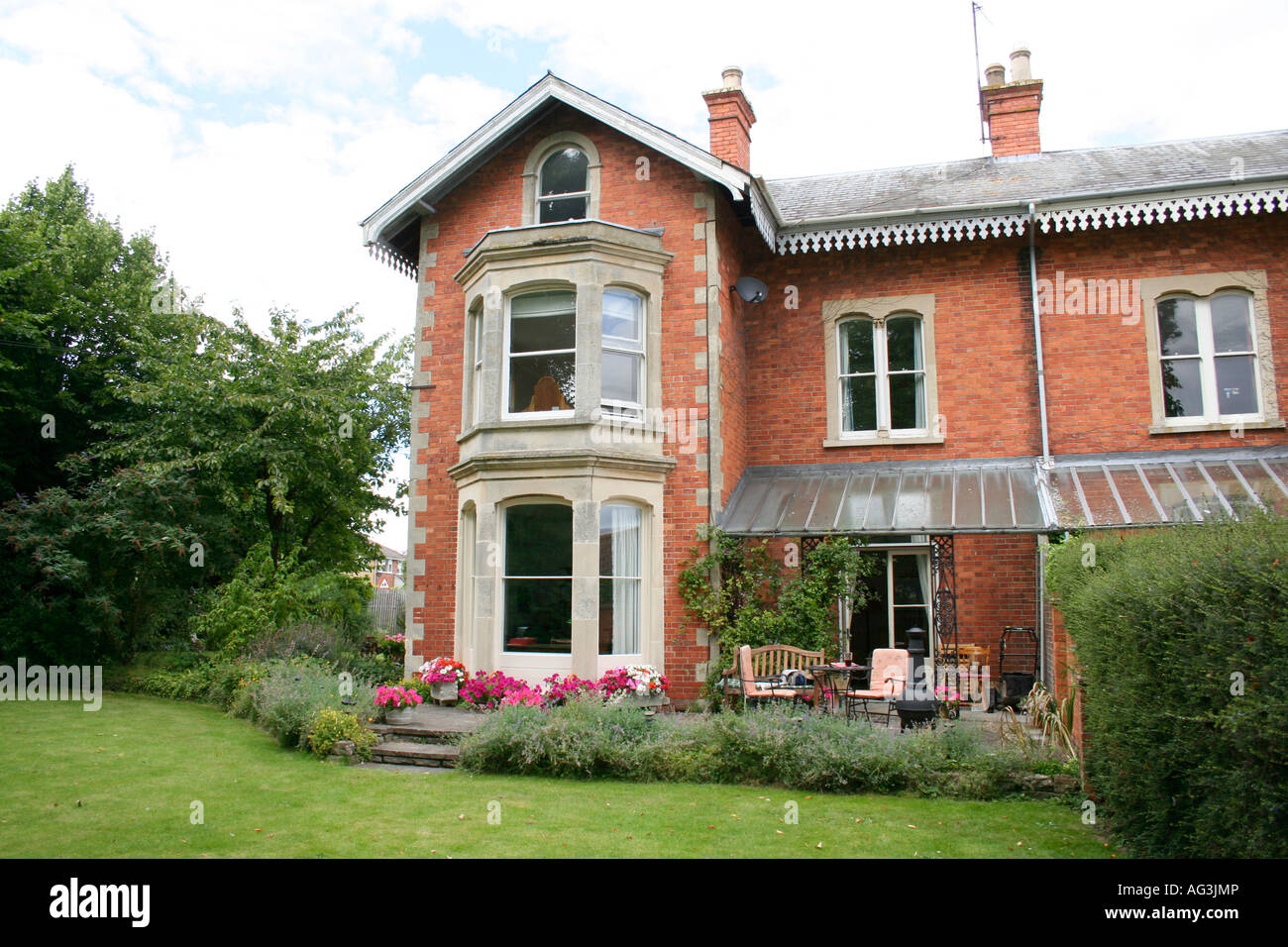 Stock photo victorian style house wantage oxfordshire england