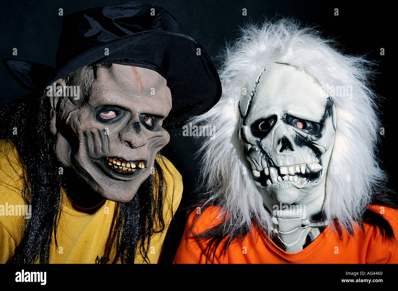 People wearing scary mask for Halloween Stock Photo, Royalty Free ...