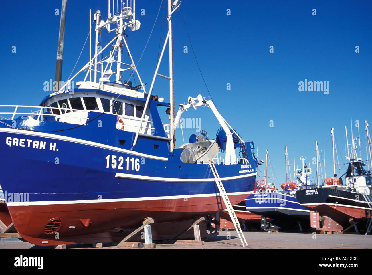 Crab fishing boats in shippagan new brunswick stock photo for Crab fishing boat