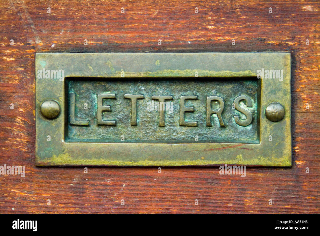 Brass letter box in old door & Brass letter box in old door Stock Photo Royalty Free Image ... Pezcame.Com