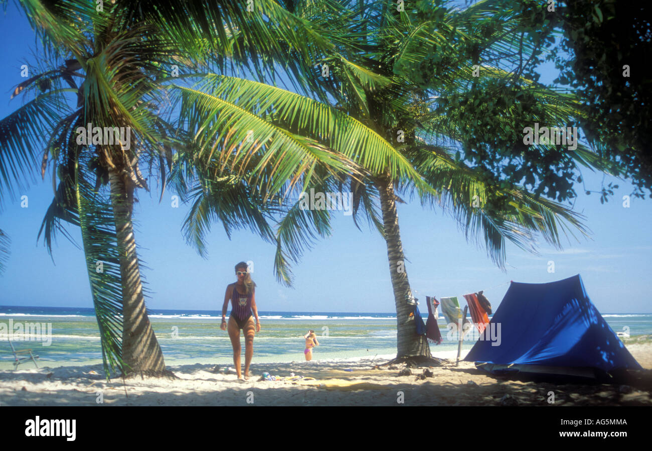 Kenya Mombasa diani beach Tiwi beach tent and palm trees & Kenya Mombasa diani beach Tiwi beach tent and palm trees Stock ...