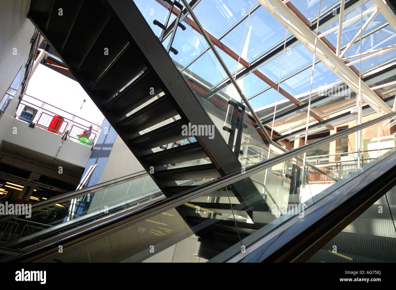 Exceptional Escalator, Moving Staircase, Change Over Below A Shopping Centre