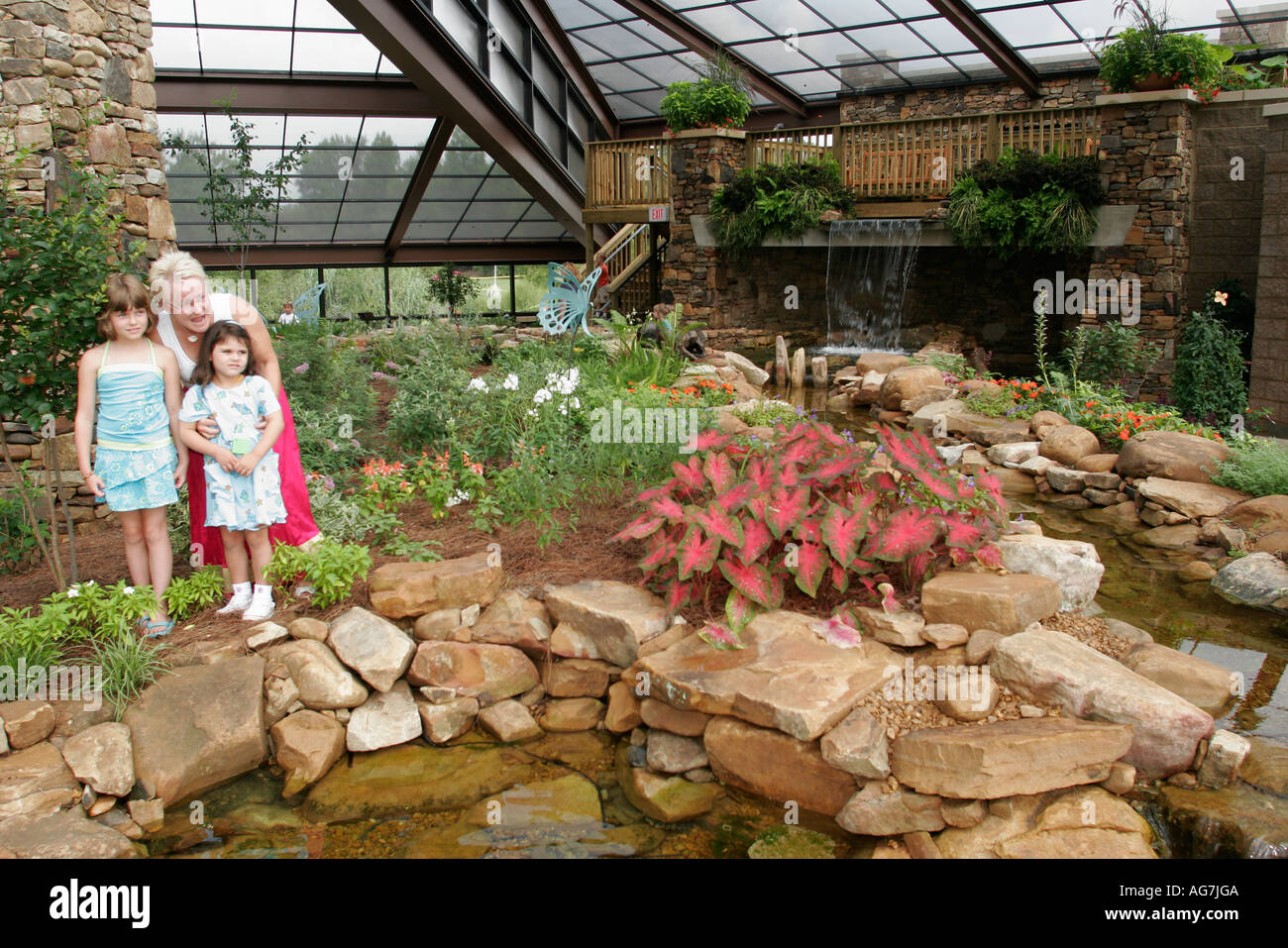 Huntsville Alabama Botanical Gardens Butterfly House Children