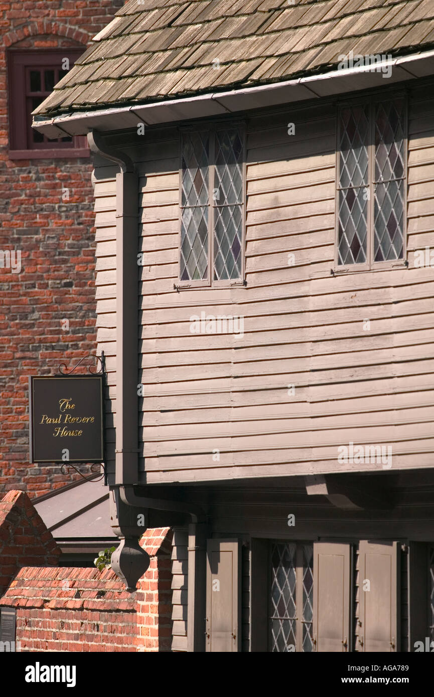 Paul Revere House Boston MA On The Red Brick Freedom Trail In North Boston