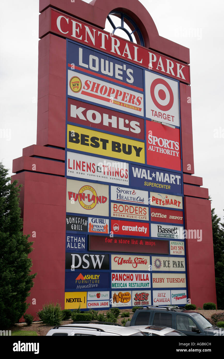 Great Newport News Virginia Central Park Shopping Mall Business Sign Stores  With Furniture Stores In Newport News
