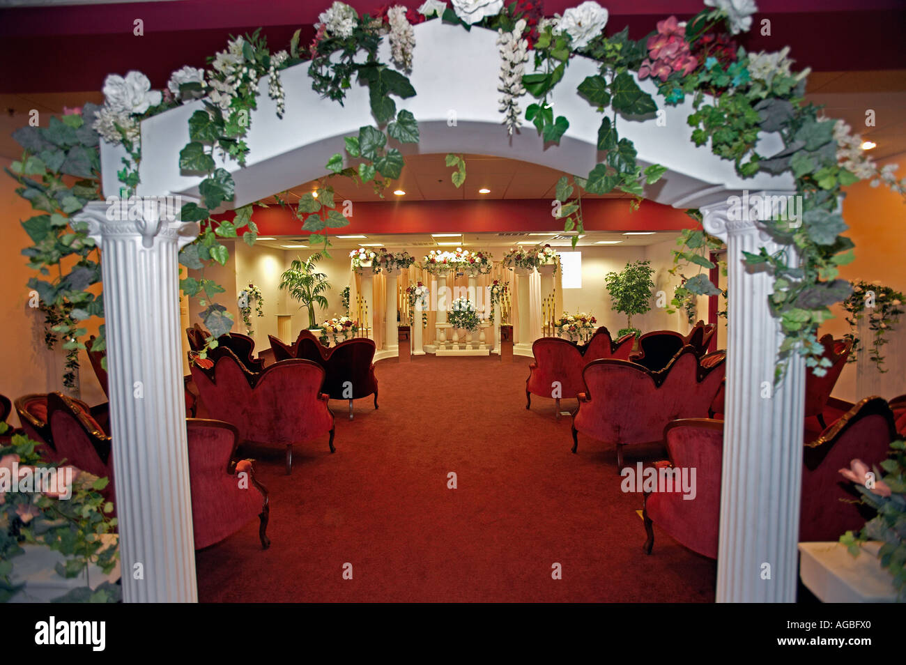 One Of The Chapels At The Famous Little White Wedding Chapel Las Stock Photo Royalty Free