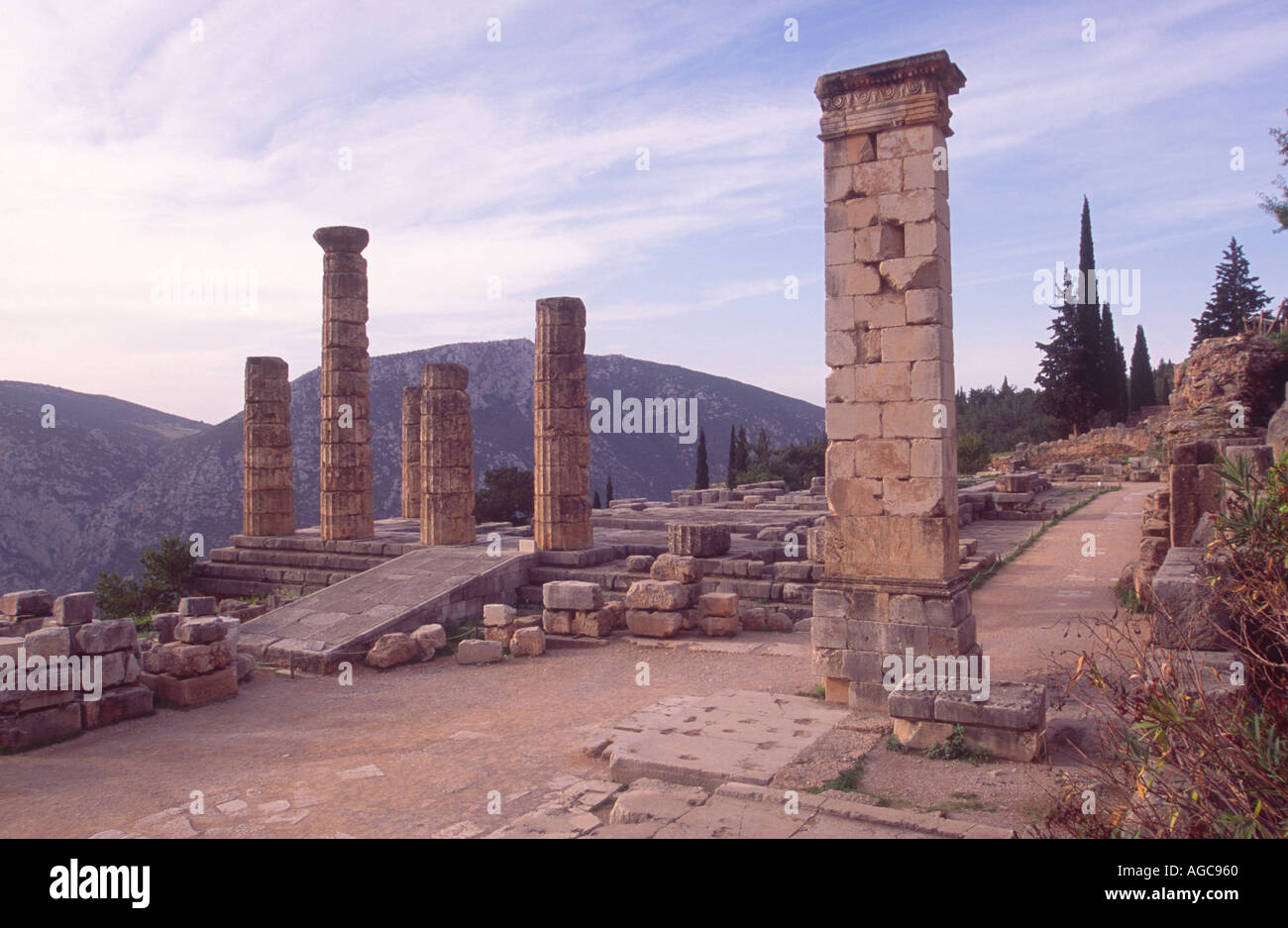 Ruins of the Temple of Apollo in the Sacred Precinct in ...