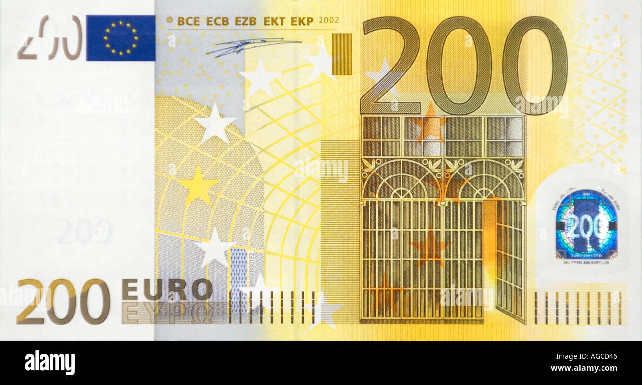 200 Euro Bill Front Stock Photo Royalty Free Image