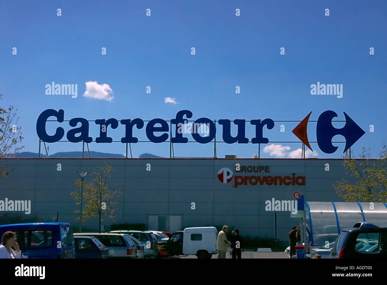 carrefour supermarket signage in thonon france stock photo royalty free image 4629503 alamy. Black Bedroom Furniture Sets. Home Design Ideas