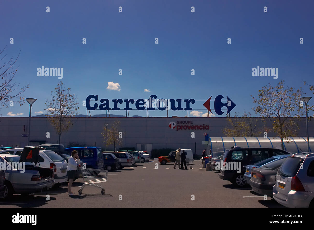 carrefour supermarket and car park in thonon france stock photo royalty free image 4629506 alamy. Black Bedroom Furniture Sets. Home Design Ideas