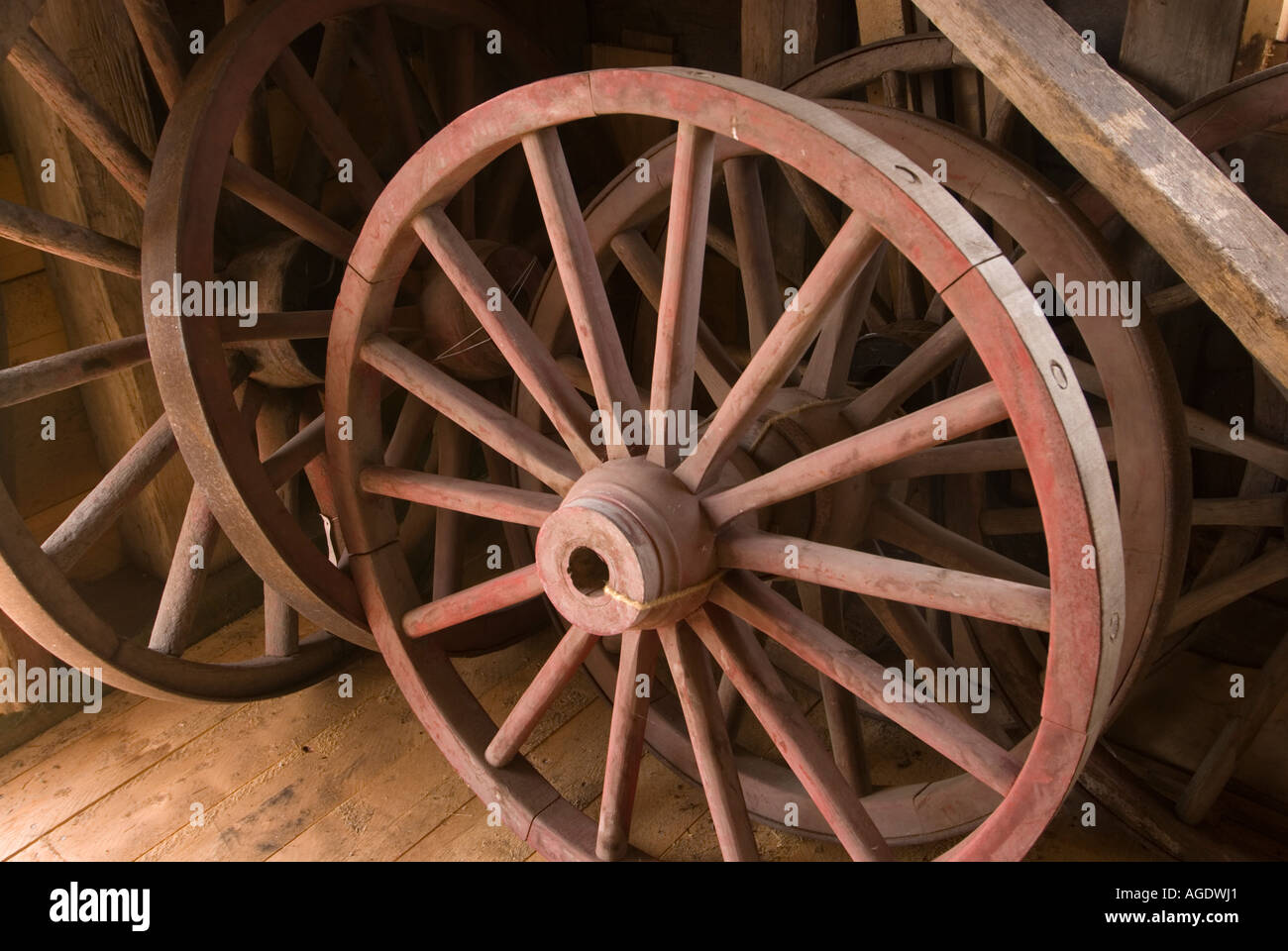 Elegant Stock Image Of Old Wagon Wheels In New Brunswick Canada Carriage House