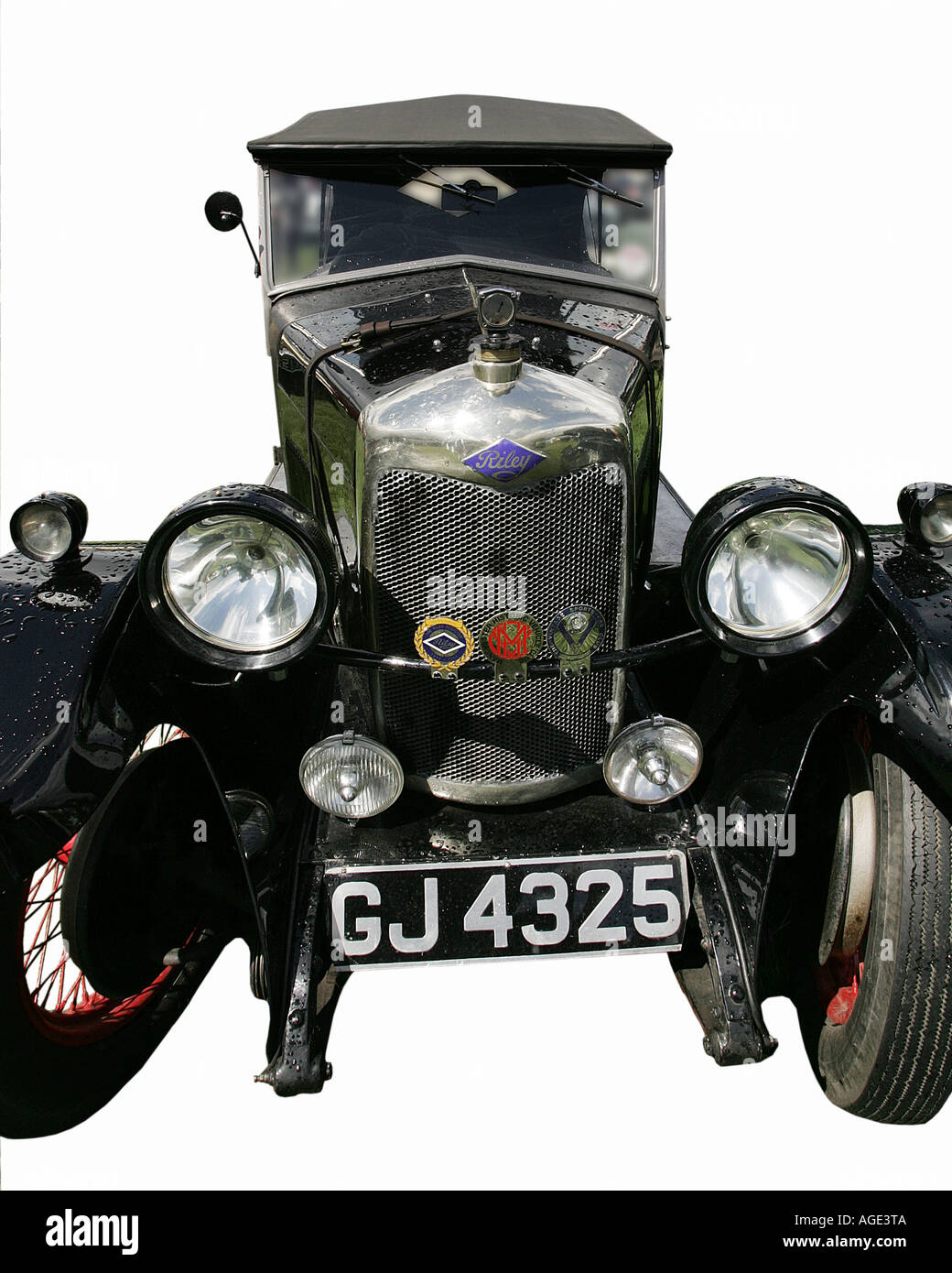 classic car Riley old history vehicle vintage antipodes symbol Stock ...