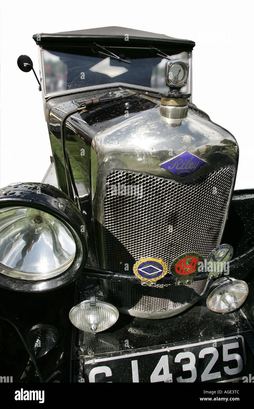 classic car Riley old history vehicle vintage antipodes symbol ...