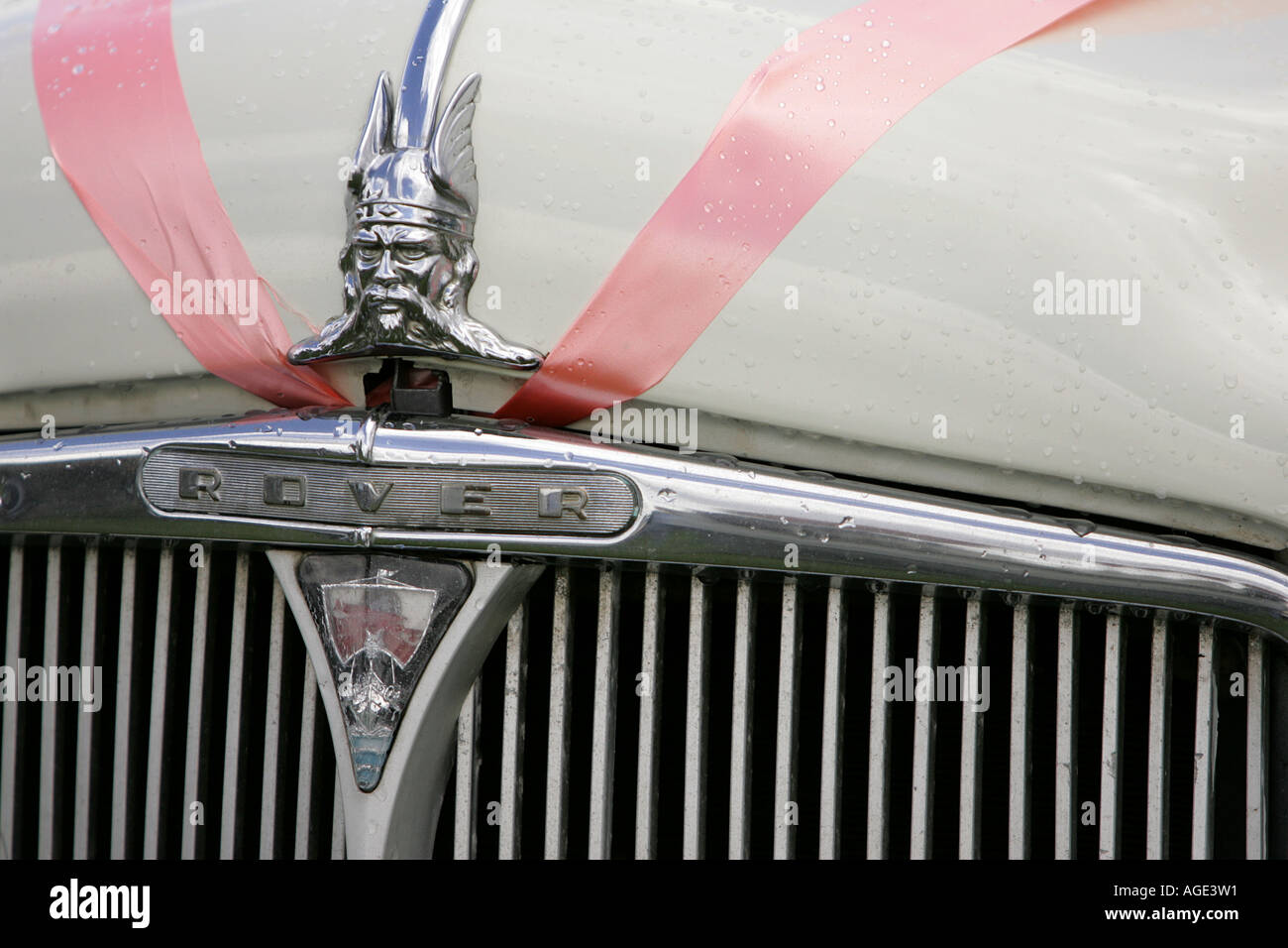 classic car Rover logo close up old history vehicle vintage ...