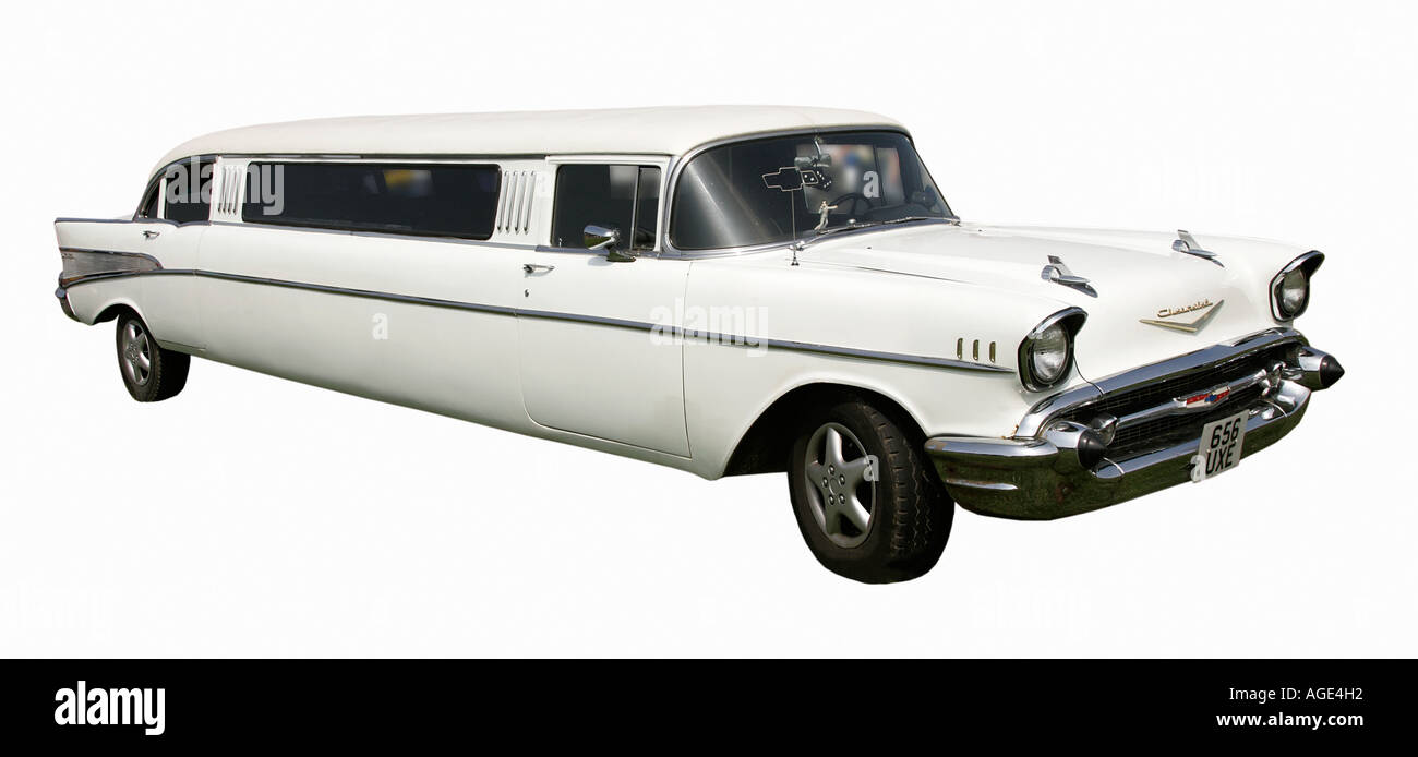 classic car Chevrolet long vehicle limousine American old history ...
