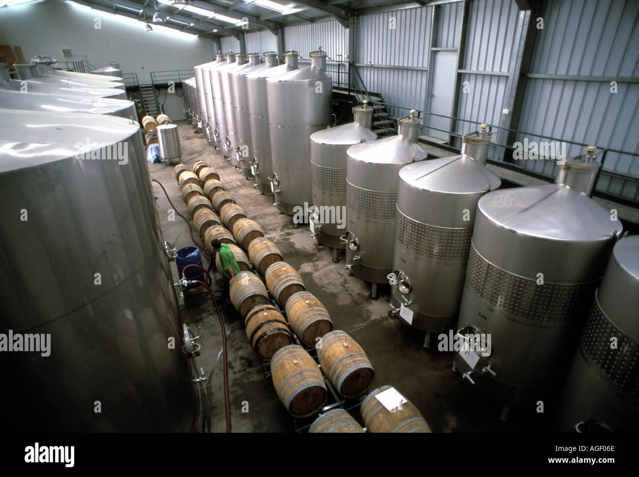New Zealand Renwick Wine Storage Tanks At Framingham Winery Marlborough  Region