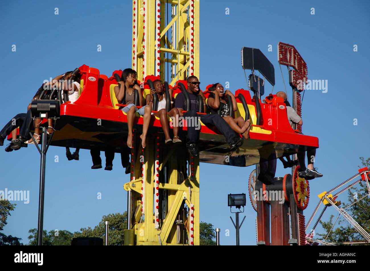 fun fair ride at lambeth country fair in brockwell park brixton south stock photo  royalty free