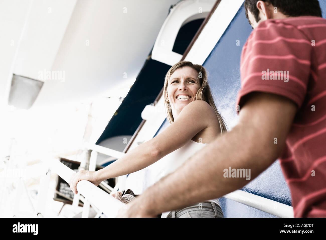 Adult couple cruises