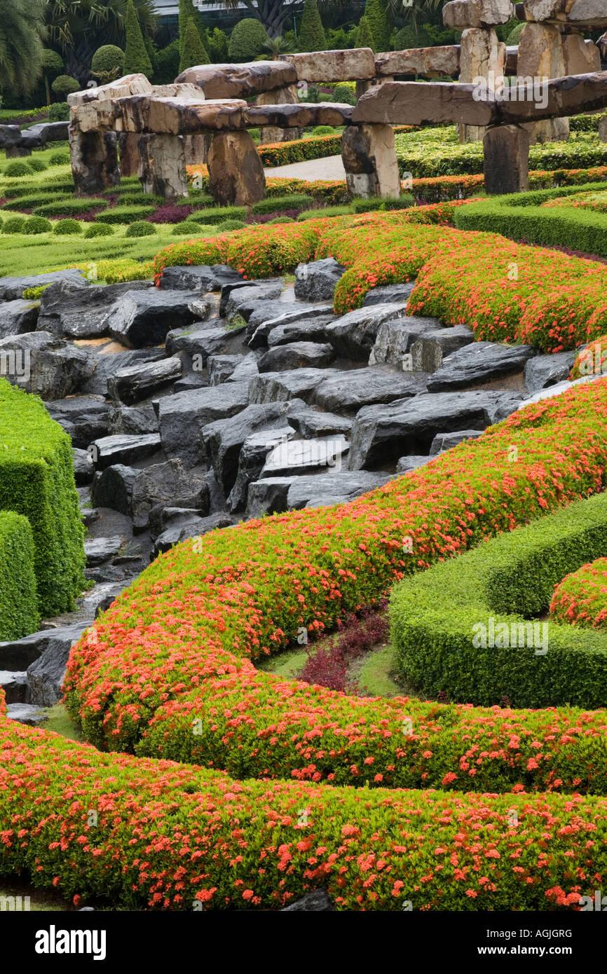 The French Garden at Suan Nong Nooch or NongNooch Tropical ...