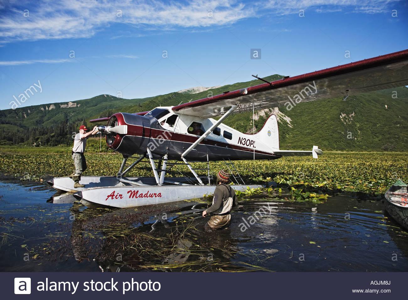 de havilland beaver float plane stock photo royalty free image