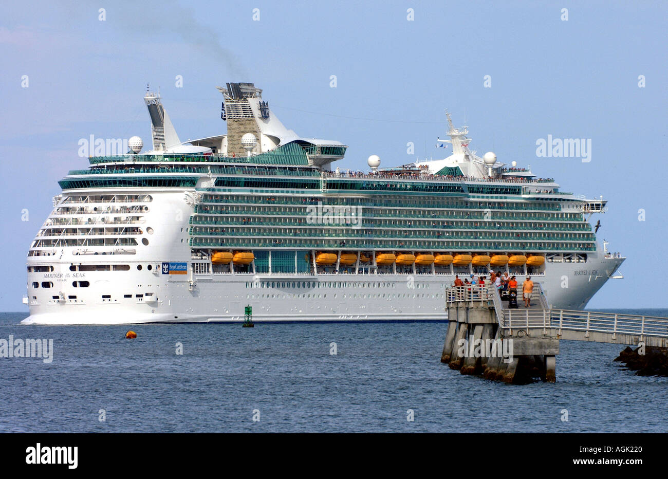 Cruise Ship Leaving Port Canaveral Florida USA Www