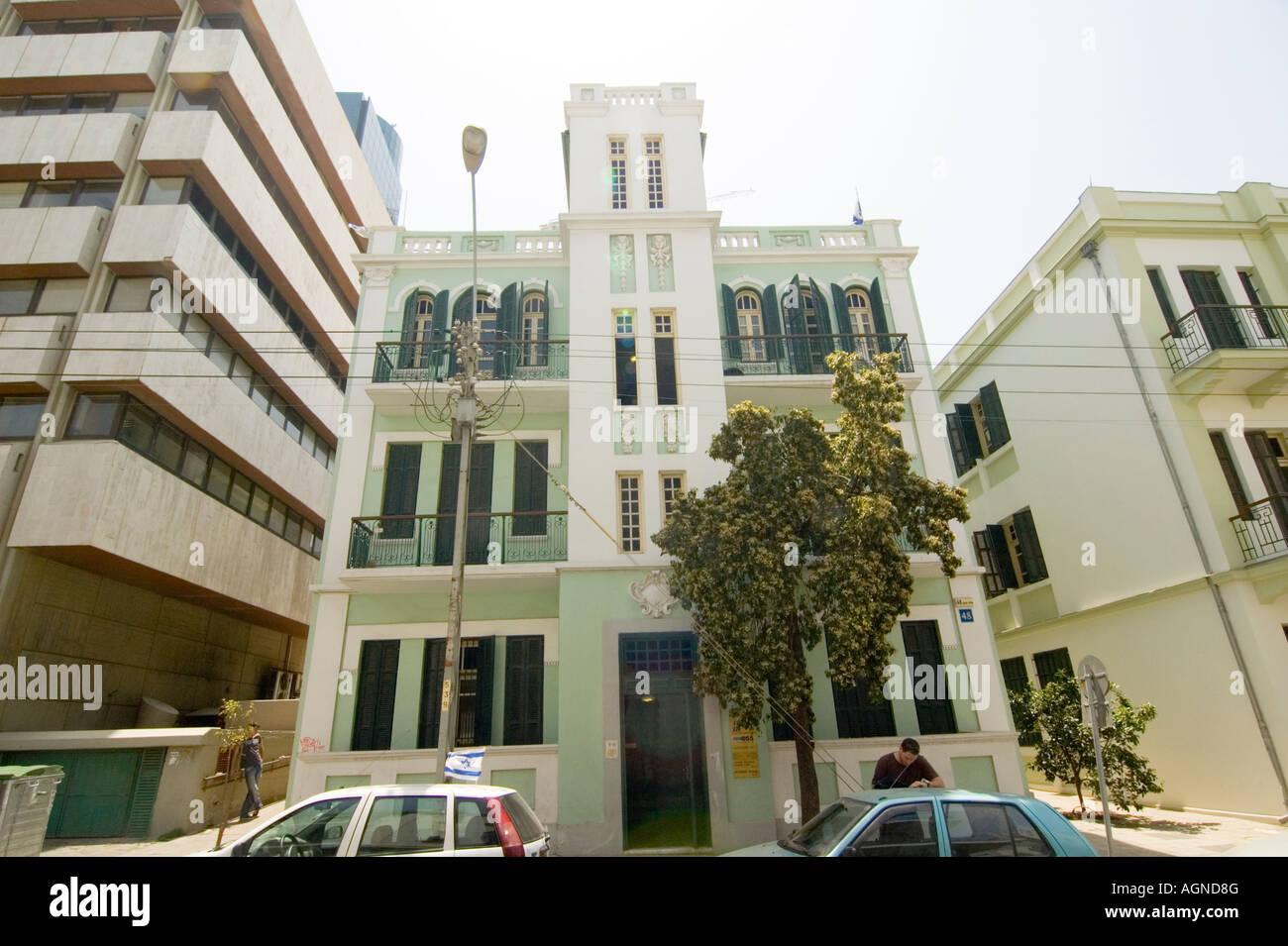 Israel Tel Aviv Renovated Bauhaus building at 48 Ehad Haam Street ...