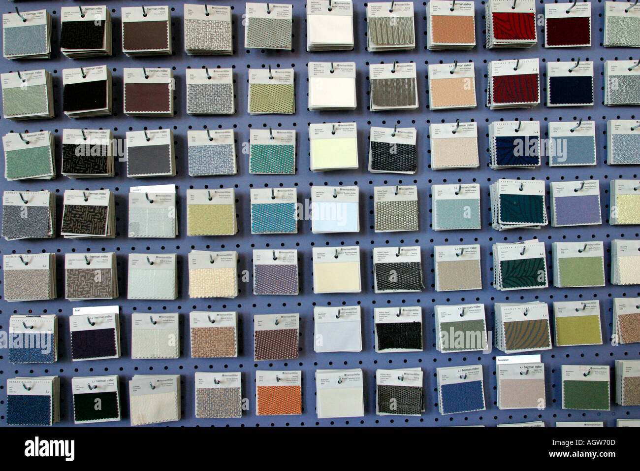 Fabric Swatches At Office Furniture Retailer New York New York   Stock Image