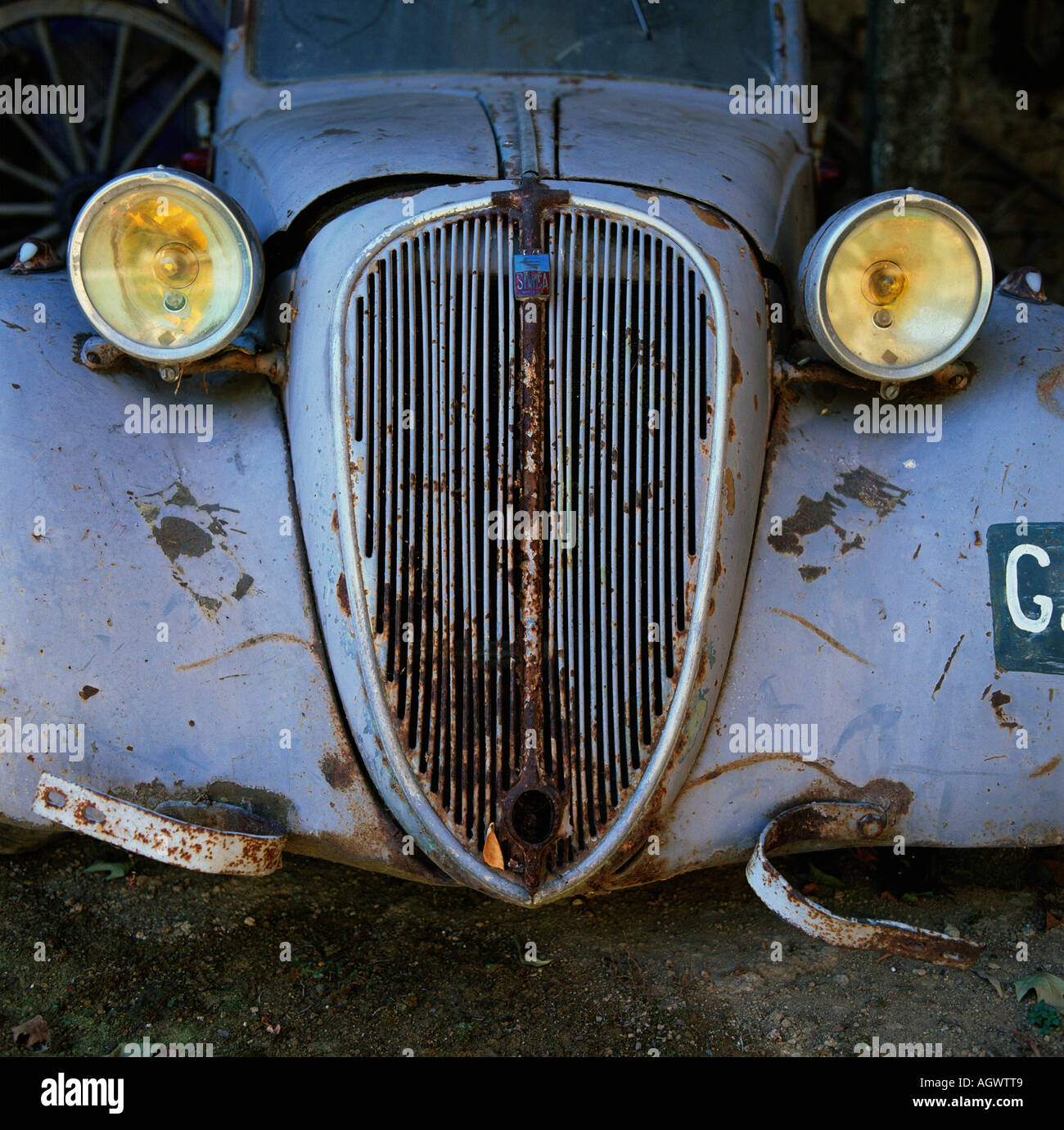 Rusty old car wreck / Rostiges altes Autowrack Stock Photo, Royalty ...