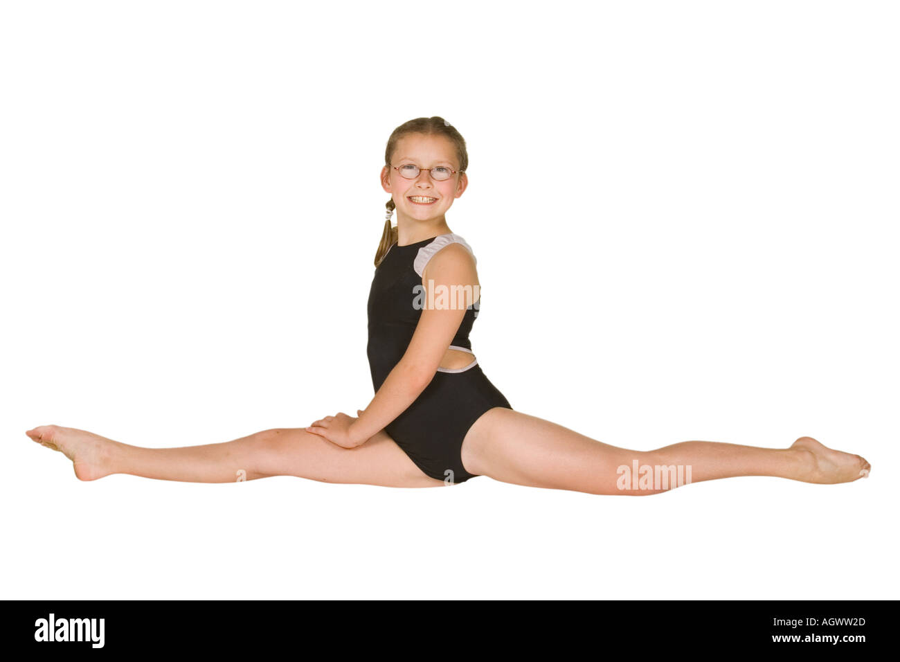model release 285 10 year old caucasian girl in gymnastics
