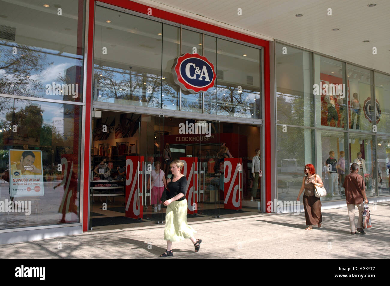 C A Clothes Shop In Warsaw Poland Stock Photo Royalty Free Image 8173254 Alamy