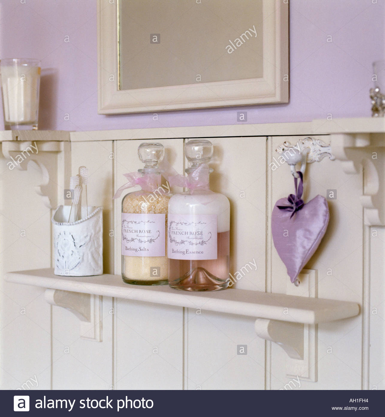 Tongue and groove for bathrooms - Shelf In Tongue And Groove Bathroom