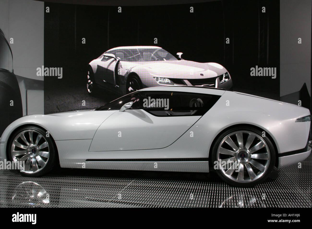Saab Concept Car Motor Car At The British International Motor Show