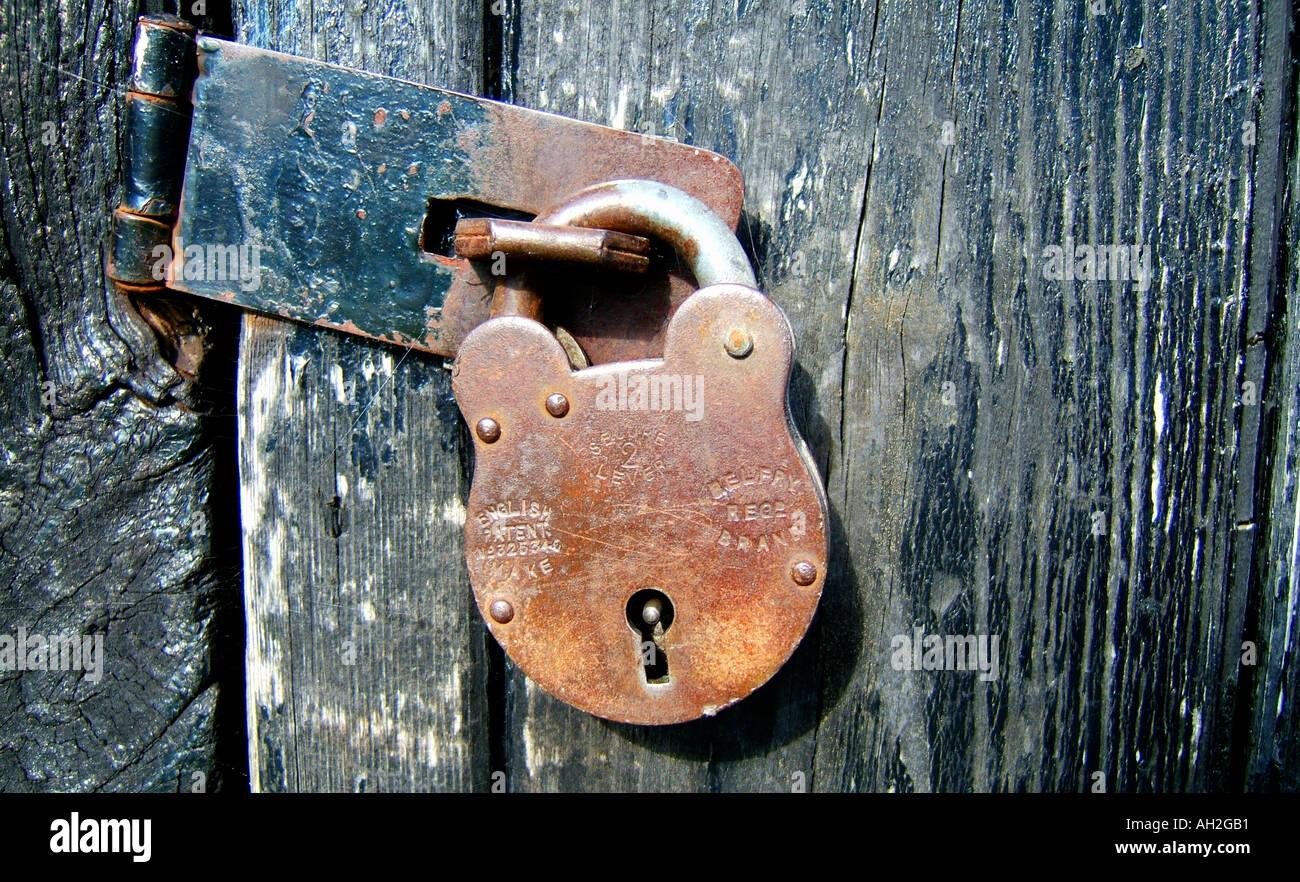 Stock Photo - padlocked door & padlocked door Stock Photo Royalty Free Image: 4679856 - Alamy Pezcame.Com